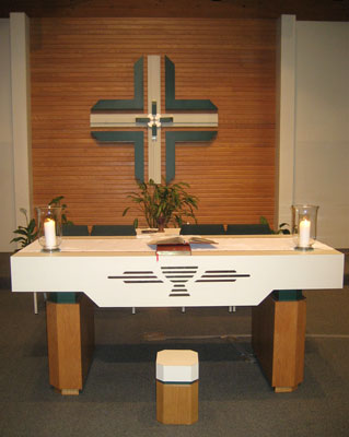 The alter at Saints Martha and Mary